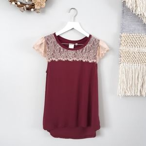 Eloise ANTHRO Lace Cap Tank Top